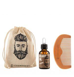 Σετ Περιποίησης για Γένια Cosmogent Mr. Cosmo Bundle Beard Oil 30ml and Beard Comb