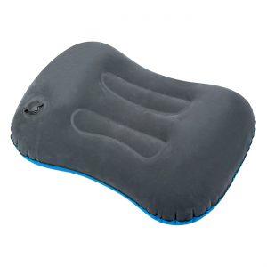 Φουσκωτό Μαξιλάρι Διπλής Όψης Βελουτέ Γαλάζιο Και Γκρι Double Sided Inflatable Pillow Velvet Light Blue And Gray 49x34x10cm