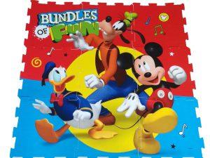 Παιδικό Δάπεδο Ασφαλείας 9τμχ Foam Puzzle Mickey Bundles Of Fun 9pcs 325x325x1cm