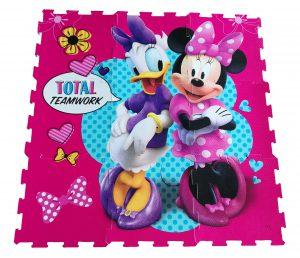 Παιδικό Δάπεδο Ασφαλείας 9τμχ Foam Puzzle Minnie And Daisy Teamwork 9pcs 325x325x1cm