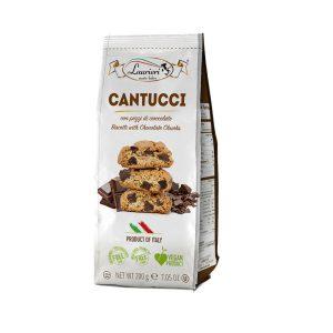 Μπισκότα Vegan Laurieri Cantucci Biscotti with Chocolate Chunks 200g