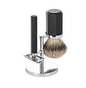 Σετ Ξυρίσματος Muhle Hexagon Shaving Set Silvertip Badger Brush With Safety Razor Limited Edition