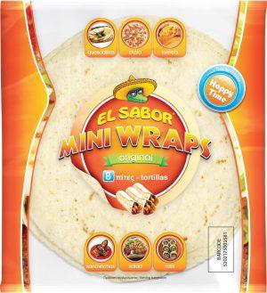Πίτες Τορτίγια 12cm Aυθεντικής Γεύσης El Sabor 8 Mini Wraps Original Tortillas 144g