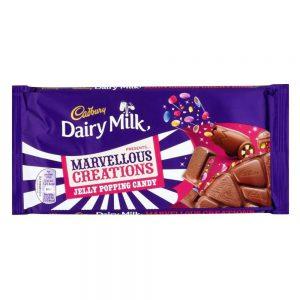 Σοκολάτα Γάλακτος Cadbury Dairy Milk Marvellous Creations Jelly Popping Candy 180g