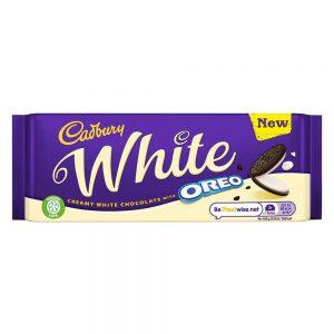 Σοκολάτα Λευκή Cadbury White Oreo 120g