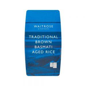 Καστανό Ρύζι Μπασμάτι Waitrose Traditional Brown Basmati Aged Rice 1kg