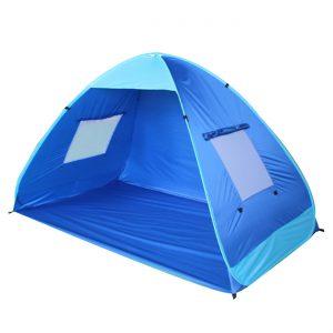 Σκίαστρο Σκηνή Παραλίας Με Παράθυρα Μπλε Pop Up Beach Tent With Windows Blue 200x120x130cm