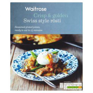 Τριμμένη Πατάτα Ρόστι Waitrose Rosti Swiss Style Seasoned Grated Potato 400g