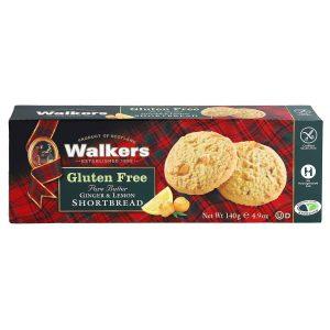 Μπισκότα Walkers Gluten Free Pure Butter Ginger And Lemon Shortbread 140g