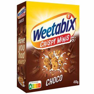 Δημητριακά Ολικής Άλεσης Weetabix Minis Choco 450g