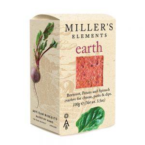 Κράκερ με Παντζάρι Πατάτα και Σπανάκι Artisan Biscuits Millers Elements Earth 100g