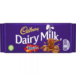 Σοκολάτα Γάλακτος Cadbury Dairy Milk Daim 120g