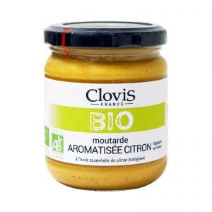 Μουστάρδα Βιολογική με Λεμόνι Clovis Moutarde BIO Citron 200g