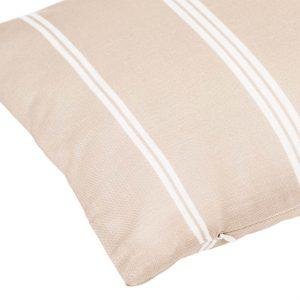 Μαξιλάρι Λινό Διακοσμητικό Ριγέ Μπεζ Λευκό 70x30x10cm