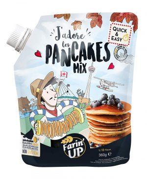 Μείγμα για Πανκέικς Farin Up J Adore Les Pancakes Mix Quick and Easy 360g