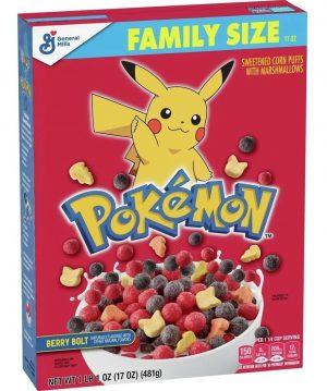 Παιδικά Δημητριακά με Marshmallows Pokemon Berry Bolt Family Size General Mills 481g
