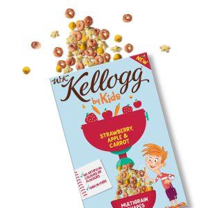 Παιδικά Δημητριακά Kellogg WK by Kids Strawberry Apple and Carrot Multigrain Shapes 300g