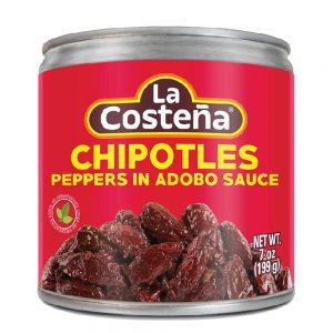 Πιπεριές Τσιπότλ Καυτερές La Costena Chipotles Peppers in Abodo Hot Sauce 199g