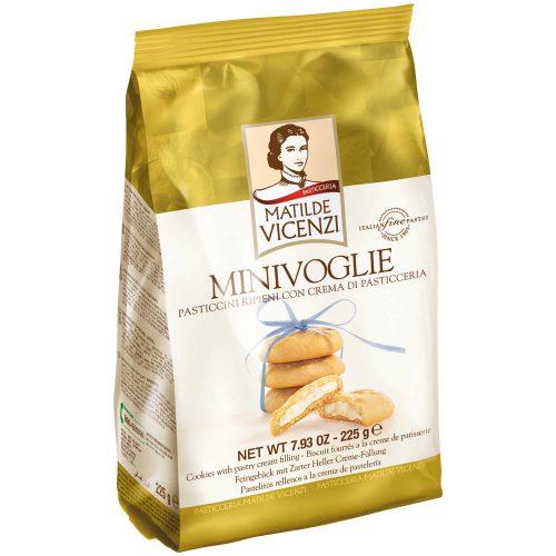 Μπισκότα Γεμιστά με Κρέμα Ζαχαροπλαστικής Matilde Vicenzi Minivoglie 225g