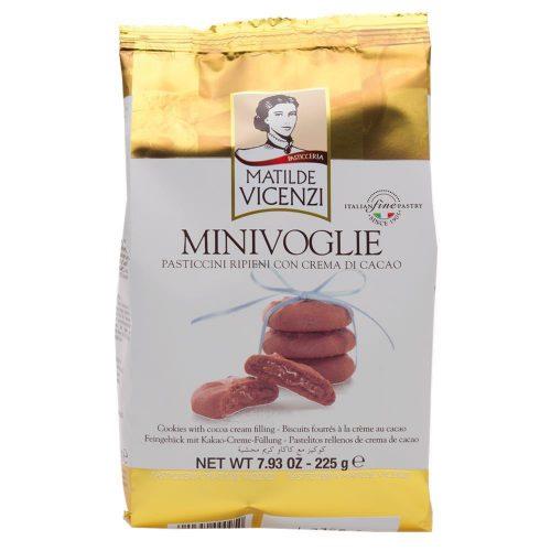 Μπισκότα Γεμιστά με Κρέμα Κακάο Matilde Vicenzi Minivoglie Crema di Cacao 225g