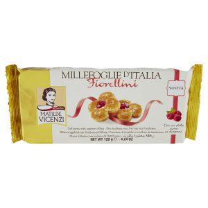 Μπισκότα Σφολιάτας με Βατόμουρο Matilde Vicenzi Millefoglie d Italia Fiorellini 120g