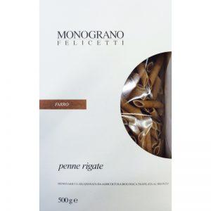 Ζυμαρικά Βιολογικά Ντίνκελ Monograno Felicetti Penne Rigate Farro Organic 500g
