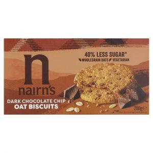 Μπισκότα Βρώμης Nairns Dark Choc Chip Oat Biscuits 200g