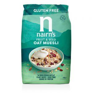 Δημητριακά Βρώμης Μούσλι Ολικής Άλεσης Χωρίς Γλουτένη Vegan Nairns Oat Muesli 450g