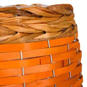 Καλάθι Κασπώ Πορτοκαλί Υάκινθος με Πόδια 25x26cm