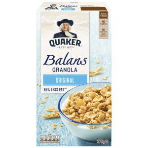 Δημητριακά με Λιγότερη Ζάχαρη Quaker Balans Granola Original 375g