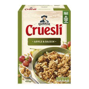 Μούσλι Βρώμης με Μήλο και Σταφίδες Quaker Cruesli Apple Raisin 450g