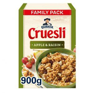 Μούσλι Βρώμης με Μήλο και Σταφίδες Quaker Cruesli Apple Raisin Family Pack 900g