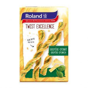 Κρουασίνια Βουτύρου με Γραβιέρα και Σπανάκι Roland Twist Excellence Gruyere Spinach 100g