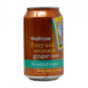 Μπύρα Τζίντζερ Χωρίς Προσθήκη Ζάχαρης Waitrose Fiery and Aromatic Ginger Beer No Added Sugar 330ml