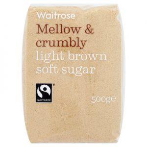 Ζάχαρη Ακατέργαστη Καστανή Waitrose Mellow and Crumbly Light Brown Soft Sugar 500g