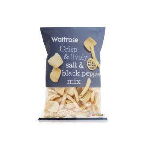 Σνακ Πατάτας Waitrose Salt and Black Pepper Mix 150g