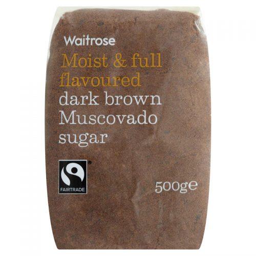 Ζάχαρη Ακατέργαστη Μαύρη Waitrose Moist and Full Flavoured Dark Brown Muscovado Sugar 500g500g
