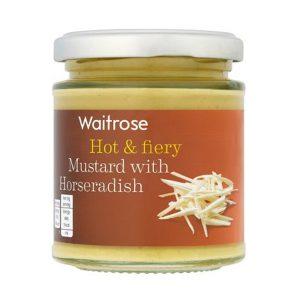 Μουστάρδα Καυτερή Waitrose Mustard with Horseradish Hot and Fiery 185g