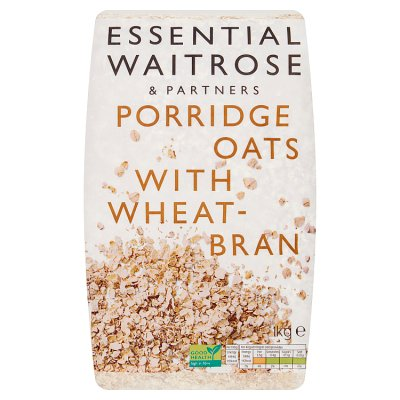 Νιφάδες Βρώμης και Πίτουρο Σίτου Waitrose Essential Porridge Oats with Wheatbran 1kg