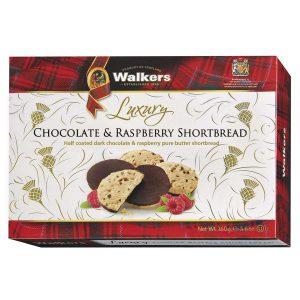 Μπισκότα Walkers Luxury Chocolate and Raspberry Shortbread 160g