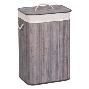 Καλάθι Απλύτων Μπαμπού Πτυσσόμενο Με Εσωτερική Υφασμάτινη Θήκη Laundry Hamper 72lt Folded Bamboo With Inner Fabric Case 40x30x60cm