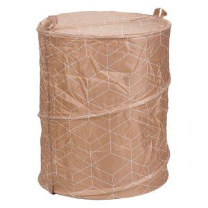 Καλάθι Απλύτων Πτυσσόμενο Υφασμάτινο Μπεζ Laundry Hamper Folded 75lt Beige 42x53cm