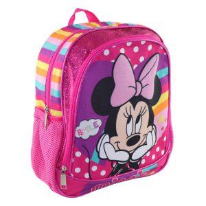 Σχολική Τσάντα Πλάτης Νηπιαγωγείου Minnie Smile Backpack School Kindergarten 27x8x32cm