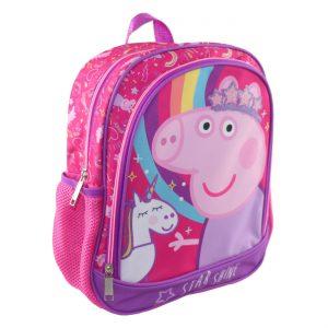 Σχολική Τσάντα Πλάτης Νηπιαγωγείου Ροζ Peppa Star Shine Backpack School Kindergarten 27x8x32cm