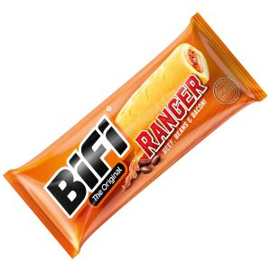Σνακ Σαλάμι Σε Ψωμάκι Με Μείγμα Από Βόειο Κρέας Φασόλια Και Μπέικον BiFi The Original Ranger 50g