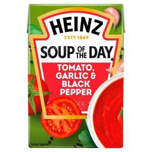 Σούπα Έτοιμη Heinz Soup of The Day Tomato Garlic Black Pepper 400g
