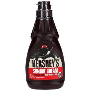 Σιρόπι Επικάλυψης Παχύρευστο Διπλής Σοκολάτας Hersheys Sundae Dream Thick And Delicious Double Chocolate Syrup 425g