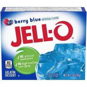Ζελέ Μύρτιλο Επιδόρπιο Jello Berry Blue Gelatin Dessert 85g