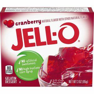 Ζελέ Κράνμπερι Επιδόρπιο Jello Cranberry Gelatin Dessert 85g
