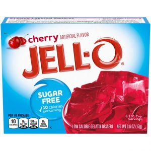 Ζελέ Κεράσι Επιδόρπιο Χωρίς Ζάχαρη Jello Cherry Sugar Free Gelatin Dessert 8.5g